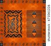 african culture symbolic...   Shutterstock .eps vector #671061226
