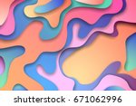 colorful 3d abstract background ... | Shutterstock .eps vector #671062996