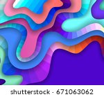 colorful 3d abstract background ... | Shutterstock .eps vector #671063062