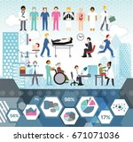 medical staff info graphic icon ... | Shutterstock .eps vector #671071036