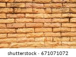 wall picture made of stone for... | Shutterstock . vector #671071072