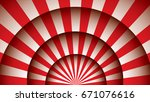 abstract red curtains moulin... | Shutterstock . vector #671076616