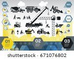 construction site info graphic... | Shutterstock .eps vector #671076802