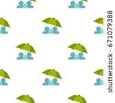 umbrella pattern seamless flat...