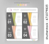 infographic template of four... | Shutterstock .eps vector #671079835