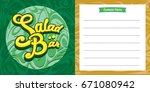 salad bar menu design idea for