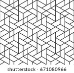 abstract geometric pattern... | Shutterstock .eps vector #671080966