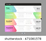 set of offer tariffs. ui ux... | Shutterstock .eps vector #671081578