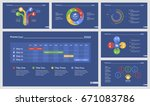 six accounting slide templates... | Shutterstock .eps vector #671083786