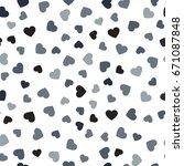 heart seamless pattern.... | Shutterstock .eps vector #671087848