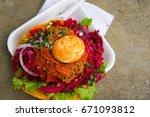 antigua guatemala historic old... | Shutterstock . vector #671093812