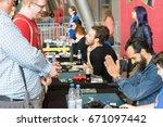 july 1st 2017. stuttgart ... | Shutterstock . vector #671097442