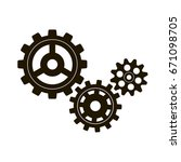 gears on a white background.... | Shutterstock .eps vector #671098705