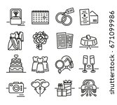 set line icon for wedding. the... | Shutterstock .eps vector #671099986