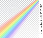 rainbow icon. shape realistic... | Shutterstock .eps vector #671121286