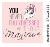 you never fully dressed without ... | Shutterstock .eps vector #671126386