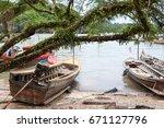 fishing boats | Shutterstock . vector #671127796