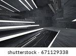 empty dark abstract concrete...   Shutterstock . vector #671129338