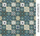 patchwork. ethnic seamless... | Shutterstock . vector #671133172