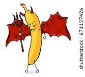 vector cartoon character  ... | Shutterstock .eps vector #671137426
