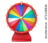 colorful wheel of luck or...   Shutterstock . vector #671138836