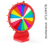 colorful wheel of luck or... | Shutterstock . vector #671139478