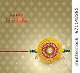 greeting card design with... | Shutterstock .eps vector #671142382