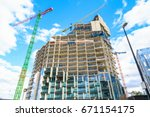 construction site of a new... | Shutterstock . vector #671154175