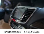 luxury interior vehicle inside... | Shutterstock . vector #671159638