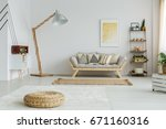 bright spacious fully furnished ... | Shutterstock . vector #671160316