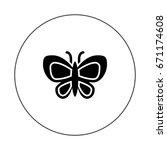 butterfly | Shutterstock .eps vector #671174608