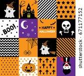 orange  black  and purple... | Shutterstock .eps vector #671177152