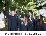 education  graduation and... | Shutterstock . vector #671215528