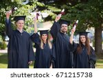 education  graduation and... | Shutterstock . vector #671215738