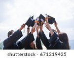 education  graduation and... | Shutterstock . vector #671219425