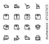 icon set   shopping | Shutterstock .eps vector #671227672