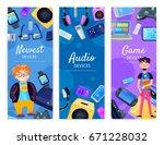 character geek nerd vertical... | Shutterstock .eps vector #671228032