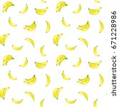 tropical yellow banana seamless ... | Shutterstock .eps vector #671228986