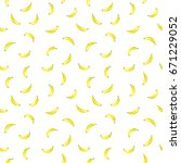 tropical yellow banana seamless ... | Shutterstock .eps vector #671229052