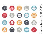 business and finance icons set. ... | Shutterstock .eps vector #671251195