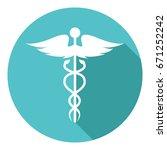 caduceus  medical symbol | Shutterstock .eps vector #671252242