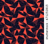 geometric line hipster seamless ... | Shutterstock .eps vector #671252815