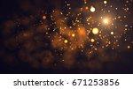 gold abstract bokeh background. ... | Shutterstock . vector #671253856