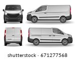cargo vehicle front  side and... | Shutterstock .eps vector #671277568