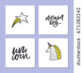 collection of square cards with ... | Shutterstock .eps vector #671283142