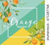 Tropical Orange Fruits And...
