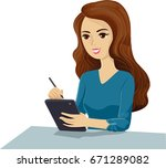 illustration featuring a young... | Shutterstock .eps vector #671289082