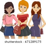 illustration featuring a group...   Shutterstock .eps vector #671289175