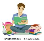 illustration featuring a young... | Shutterstock .eps vector #671289238