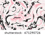 design pink and black marble... | Shutterstock .eps vector #671290726